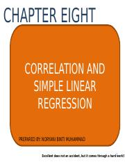 CHAPTER 8_CORRELATION AND SIMPLE LINEAR REGRESSION