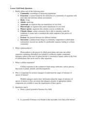 Lesson 5 Self-Study Questions