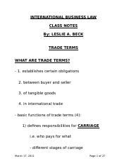 5) Trade Terms - CLASS NOTES.doc