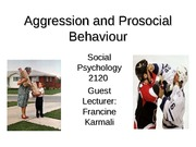 Lecture 11 - Altruism and Aggression