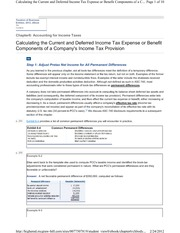 6-3 Calculating the Current and Deferred Income Tax Expense or Benefit Components of a Company's Inc