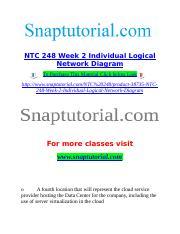 NTC 248 Week 2 Individual Logical Network Diagram doc - NTC 248 Week