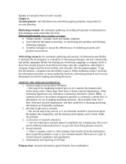 MARK 373 EXAM TWO STUDY GUIDE