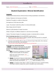Mineral_Identification_SE_Key.pdf - Student Exploration ...