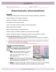 Mineral_Identification_SE_Key.pdf - Student Exploration ...