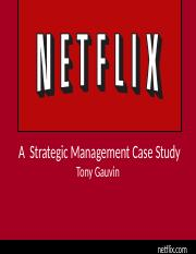 netflix case study strategic management