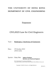 HKU_CIVL3025_Law_for_Civil_Engineers_Handout-29_10_2011