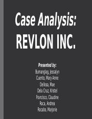 revlon inc 2004 case study Amazon swot swot analysis amazon amazon is a profitable organization in 2005 profits for the three months to june dipped 32% to $52m (£299m) from $76m in the.