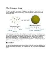 Lecture Note - The Gaseous State