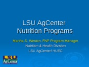 LSU_AgCenter_Community_Nutrition_Programs-update_spring_2011