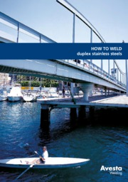 How to Weld Duplex Stainless Steels