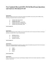 New-Updated-Microsoft-MTA-98-364-Real-Exam-Questions-and-Answers-Download-51-60