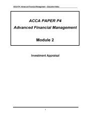 P4 Module 2 Investment Appraisal Marked to p26