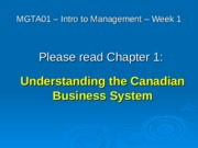 Lecture 1 Chapter 1 part one