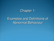 Chapter 1 - Introduction to Abnormal Bx