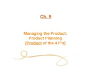 Ch. 09 Managing The Product