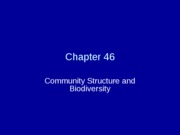 Chapter 46Community Structure