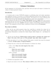 Hw5 Matlab Fall15 Cop2271 Matlab Fall 2015 Assignment 5 Due