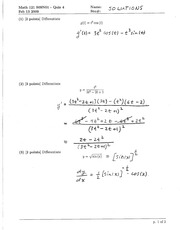 Math 121 Quiz 4 Solutions