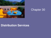 Chapter 30 Distribution Services