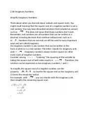 2.06 Imaginary Numbers .docx
