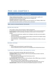 PSYC 100 - Chapter 9