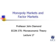 17. Monopoly Markets and Factor Markets
