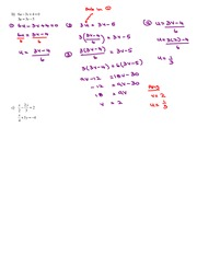 Math 10 Using a Substitution Strategy to Solve a System of Linear Equations Key