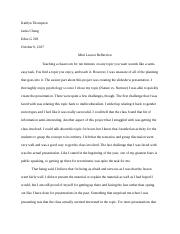 Mini Lesson Reflection Paper.docx