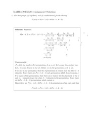 MATH 3120 Fall 2014 Assignment 9 Solutions