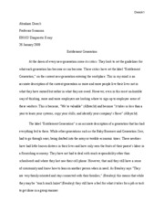 Diagnostic Essay