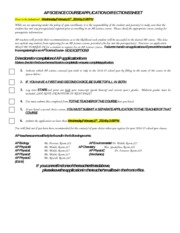 AP Science Application 2014-15