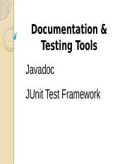 Javadoc and JUnit Test Review