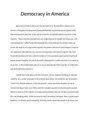 Democracy in America APGov.docx