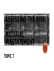 Topic 07 - Assessing the Risk of Material Misstatement - student copy (9.26) (1).pptx