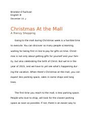Christmas At the Mall - A Frenzy Shopping