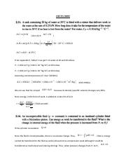 CHE 351 Thermodynamics I HW 3 Solution.docx