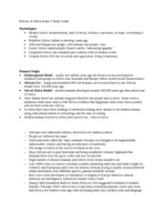 History of Africa Exam 1 Study Guide