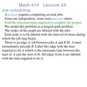 Lecture 25 on Linear Programming