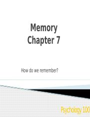 Chapter 7-Memory