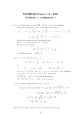 2009-Assignment-4-Solutions