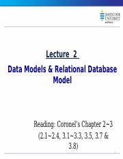 Lecture_02_Data Models Relational DB Model