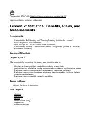 stat notes Lesson 2 Statistics Benefits Risks and Measurements.pdf