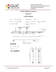 Tutorial #5 Design of Reinforced Concrete Structures