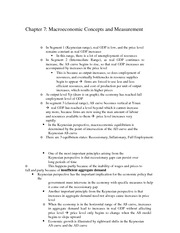 Macroeconomic Concepts and Measurement Notes