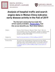 Analysis of hospital traffic and search engine data in Wuhan China on Fall 2019.pdf