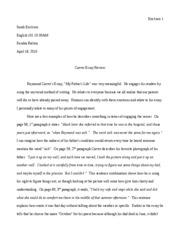 essay format in english