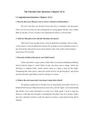 The Chocolate War Questions_ Chapters 14-21.docx