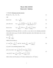 Phys 362k 2014 HW4 Solutions