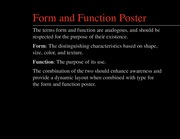 Lecture_Form and Function